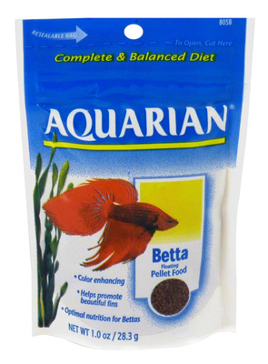 Aquarium Pharmaceuticals API Aquarian Betta Fish Food 28.3g