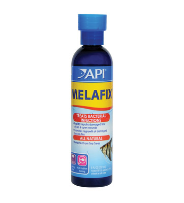 Aquarium Pharmaceuticals API Melafix Fish Medication 237mL