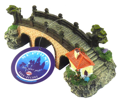 Aqua Decore Neptune Medium Bridge with House