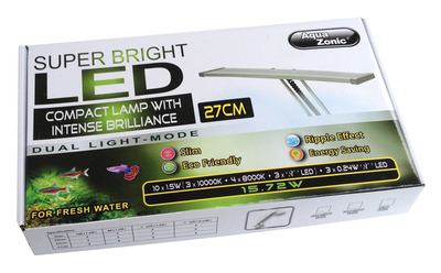 Aqua Zonic Super Bright Clamp LED Lamp 27cm For Fresh Water