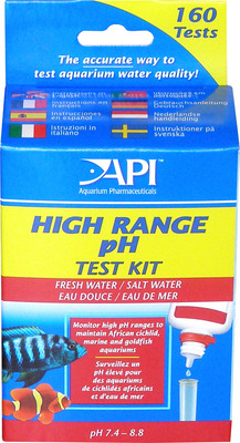 Aquarium Pharmaceuticals API Fresh and Saltwater High Range pH Test Kit