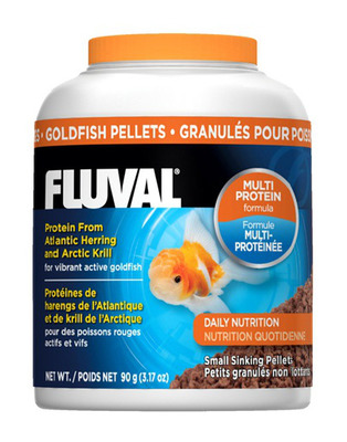 Fluval Goldfish Small 1mm Sinking Pellets 90g