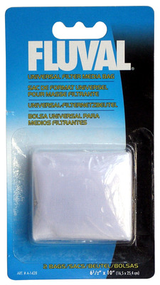 Fluval Universal Filter Media Bag 10 x 6.5 inches - 2 Bags