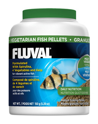 Fluval Vegetarian Medium 1mm Sinking Pellets 150g