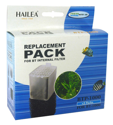 Hailea BT Internal Filter Cartridge and Foam BT-1000