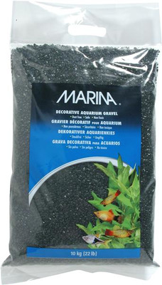 Marina Decorative Aquarium Gravel 10kg Black