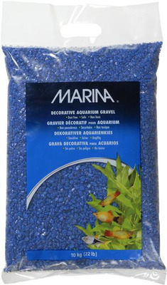 Marina Decorative Aquarium Gravel 10kg Dark Blue