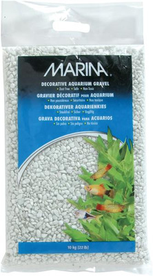 Marina Decorative Aquarium Gravel 10kg Creamy White