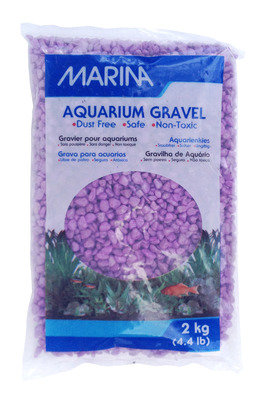 Marina Decorative Aquarium Gravel 2kg Purple