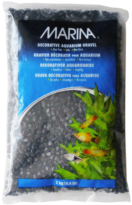 Marina Decorative Aquarium Gravel 2kg Black