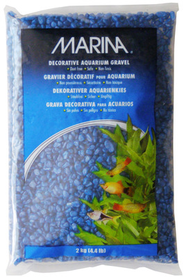 Marina Decorative Aquarium Gravel 2kg Blue