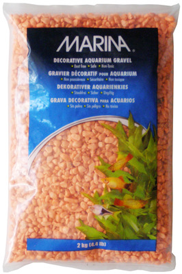 Marina Decorative Aquarium Gravel 2kg Orange