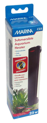 Marina Submersible Compact Aquarium Heater C25