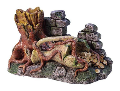 Middle Earth Tree Trunk with Rock Large