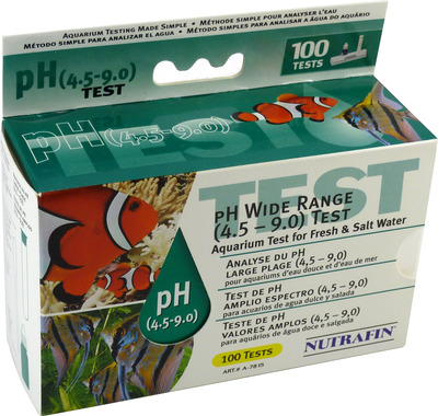 Nutrafin Fresh and Saltwater pH Test Kit Wide Range