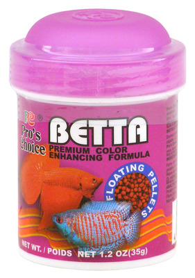 Pro 39 s choice betta fish food floating pellets 35g the for Betta fish pellets