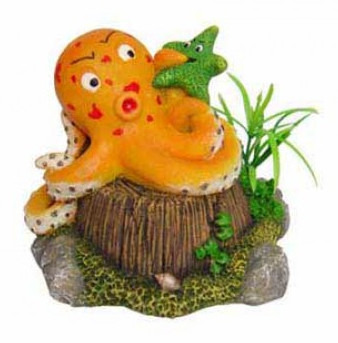 Octopus fish tank ornament 11 5 x 11 x h the for Octopus fish tank