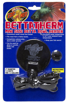 Zoo Med BettaTherm Submersible Aquarium Heater 7.5 watt