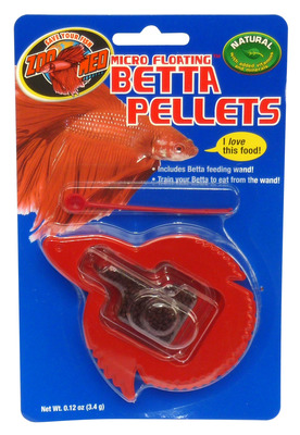 Zoo Med Betta Micro Floating Pellets Fish Food 3.4g carded