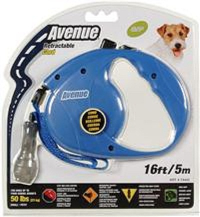 Avenue Retractable Dog Lead Medium Blue 5m