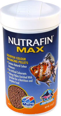 Nutrafin Max Goldfish Colour Enhancing Sinking Pellet Food 175g. 1mm pellets