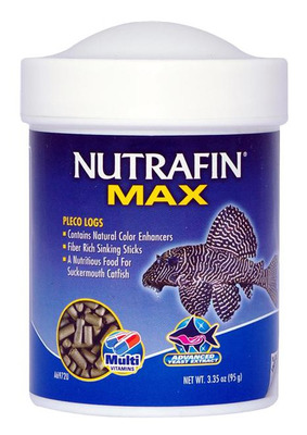 Nutrafin Max Pleco Logs Fish Food 95g