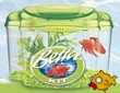 Marina Betta Aquarium Kit Green **Damaged-Small Crack in Lid Section**
