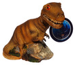 Aqua Decore Aquarium Bubbler Giant Dinosaur Brown T-Rex