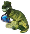 Aqua Decore Aquarium Bubbler Giant Dinosaur Green T-Rex