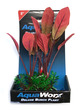 Deluxe Bunch Silk Plant 8inch Red Leaves