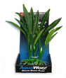 Deluxe Bunch Silk Plant 8inch Ribbed Slim Leaves