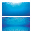 Juwel Aquarium Background Blue Water Poster 2 Double Sided 100 x 50cm Large