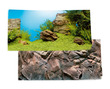 Juwel Aquarium Background Rock-Plant Scene Poster 1 Double Sided 60 x 30cm Small