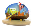 Penn-Plax Resin Replica SpongeBob Squarepants and Patrick on Canoe