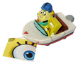 Penn-Plax Spongebob Squarepants Resin Replica Spongebob and Mrs Puff in boat