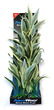 Deluxe Bunch Silk Plant 16inch Flax Green Centre Yellow Edge