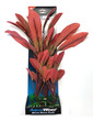 Deluxe Bunch Silk Plant 16inch Red Leaves