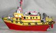 Fire Rescue Boat Yellow-Red