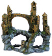 Water Works Mountain Castle Aquarium Castle Ornament 17.5x35.5x38cm h
