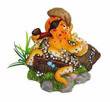 Pirate Octopus Fish Tank Ornament 13 x 12.5 x 9.5cm h