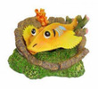 Yellow Ray Fish Tank Ornament 13.5 x 12 x 6cm h